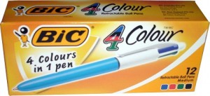 BIC 4 COLOR PENS (BOX 12) (prices excludes gst)