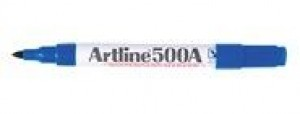 ARTLINE 500 WHITEBOARD MARKER BULLET NIB 2mm BLUE (price excludes gst)