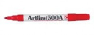ARTLINE 500 WHITEBOARD MARKER BULLET NIB 2mm RED (price excludes gst)