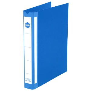 PE BINDER DELUXE A4 3 RING 25mm BLUE