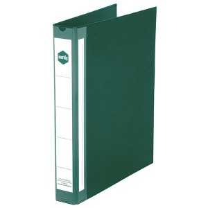 PE BINDER DELUXE A4 3 RING 25mm GREEN