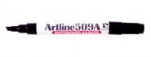 ARTLINE 509 WHITEBOARD MARKER CHISEL NIB 5mm BLACK (BOX 12)  (price excludes gst)