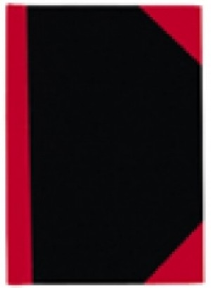 RED & BLACK NOTEBOOK FEINT A5 100LF #05100  (price excludes gst)