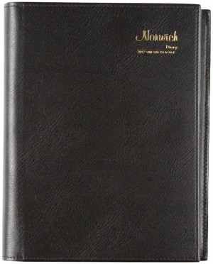 2019 NORWICH SPIRAL DIARY 51S A5 1 DAY TO A PAGE BLACK (price excludes gst)