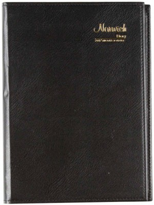 2019 NORWICH SPIRAL DIARY 52S A4 2 DAYS TO A PAGE BLACK (price excludes gst)