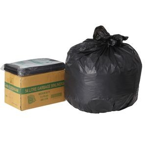 BIN LINERS BLACK 54 LITRE BOX 250  (price excludes gst)