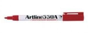 ARTLINE 550 WHITEBOARD MARKER BULLET NIB 1.2mm RED (BOX 12)  (price excludes gst)