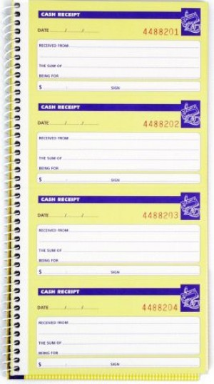 SPIRAL CASH RECEIPT BOOK CARBONLESS #553 (price excludes gst)