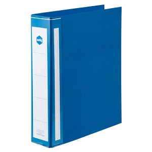 PE BINDER DELUXE A4 2 RING 50mm BLUE