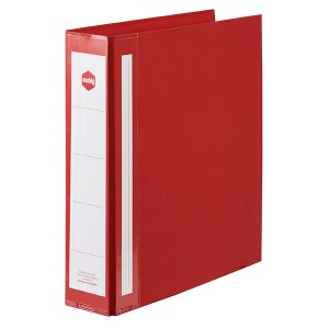 PE BINDER DELUXE A4 2 RING 50mm RED