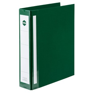 PE BINDER DELUXE A4 2 RING 50mm GREEN