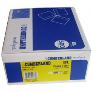 ENVELOPES Cumberland DL 110mm x 220mm PLAIN Secretive Peel-n-Seal (Box 500) 603213 (price excludes gst)