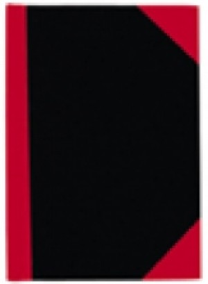 RED & BLACK NOTEBOOK FEINT A6 100LF #06100  (price excludes gst)