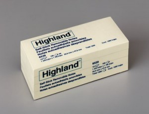 HIGHLAND NOTE PAD #6539 38mm x 50mm