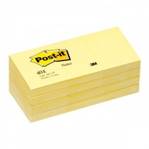 POST-IT NOTE PAD #653 38mm x 48mm (price excludes gst)