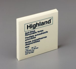 HIGHLAND NOTE PAD #6549 75mm x 75mm (PKT 12)  (price excludes gst)