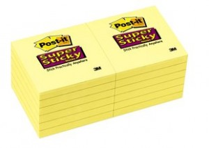 POST-IT NOTE PAD #654 75mm x 75mm (price excludes gst)