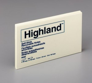 HIGHLAND NOTE PAD #6559 75mm x 127mm PKT 12  (price excludes gst)