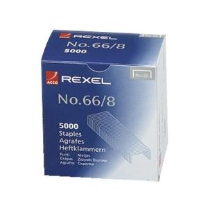 REXEL HEAVY DUTY STAPLES #66/8mm (Box 5,000)