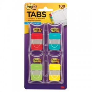 POST-IT DURABLE TABS 686 RALY VP VALUE PACK 100 TABS (price excludes gst)