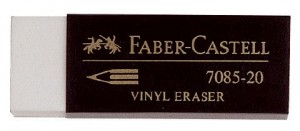 ERASER PLASTIC FABER-CASTELL #7085-20 LARGE  (price excludes gst)