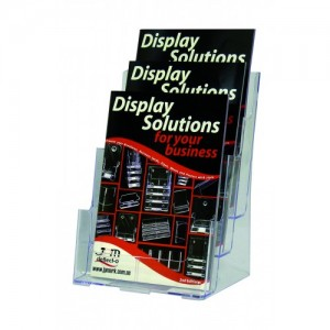 BROCHURE HOLDER A4 FREESTANDING 3-TIER #77301  (price excludes gst)