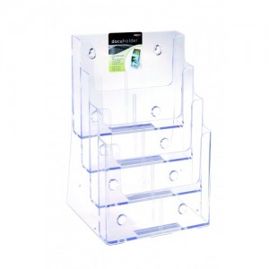 BROCHURE HOLDER A4 FREESTANDING 4-TIER #77441  (price excludes gst)
