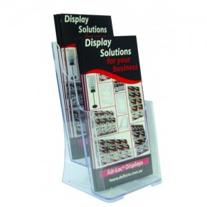 BROCHURE HOLDER DL FREESTANDING 2-TIER #77862  (price excludes gst)