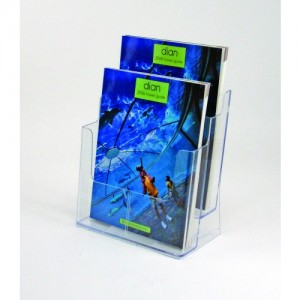 BROCHURE HOLDER A4 FREESTANDING 2-TIER #77865  (price excludes gst)