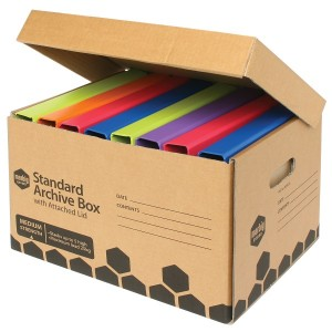 ARCHIVE BOX WITH ATTACHED LID MARBIG #8022E BOX 10 (price excludes GST)