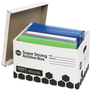 ARCHIVE BOX SUPER STRONG MARBIG #80036 (BOX 12)  (price excludes GST)