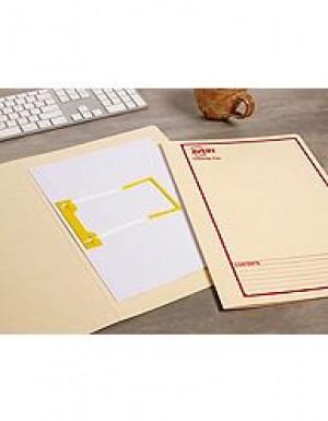 AVERY TUBECLIP FILE FCAP BUFF/RED PRINT #84515 Box 20