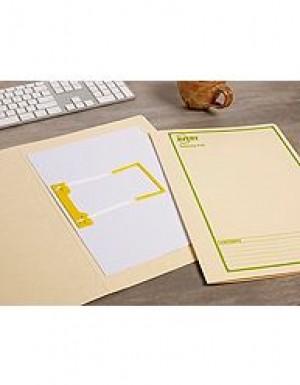 AVERY TUBECLIP FILE FCAP BUFF/GREEN PRINT #84535 Box 20