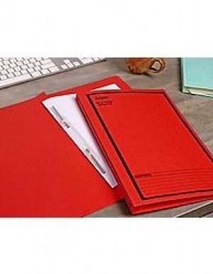 AVERY SPIRAL SPRING FILE FCAP RED/BLACK PRINT #85104 Box 25