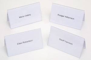 REXEL NAME PLATES (92mm x 56mm) Pack 50  (price excludes gst)