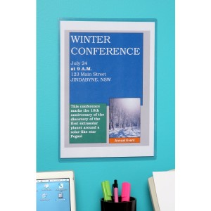MARBIG WALL MOUNTABLE DOCUMENT PROTECTOR A4 #90084 (price excludes gst)