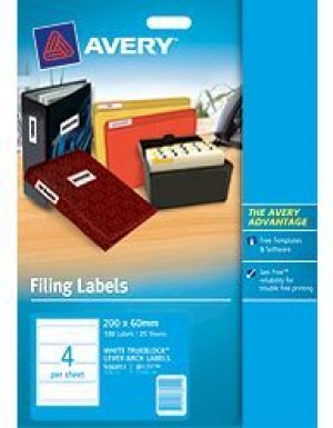 AVERY INKJET LABELS #J8171 LEVER ARCH  #936051  (price excludes gst)