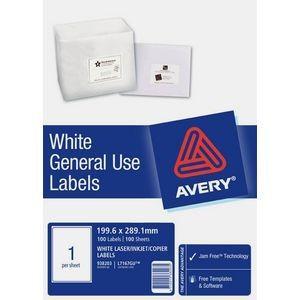 AVERY GENERAL USE LABELS L-7167GU (1's) BOX 100  #938203
