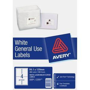 AVERY GENERAL USE LABELS L-7169GU (4's) BOX 100  #938206