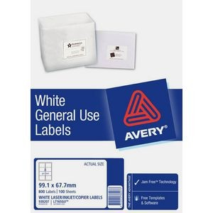 AVERY GENERAL USE LABELS L-7165GU (8's) BOX 100  #938207