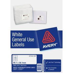 AVERY GENERAL USE LABELS L-7163GU (14's) BOX 100  #938209