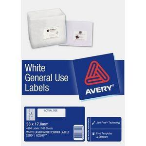 AVERY GENERAL USE LABELS L-7156GU (45's) BOX 100  #938212
