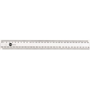 PLASTIC RULER 40cm METRIC #975186  (price excludes gst)