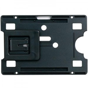 SECURITY CARD HOLDER RIGID WITH KEY RING BLACK (PKT 10) #9801802  (price excludes gst)