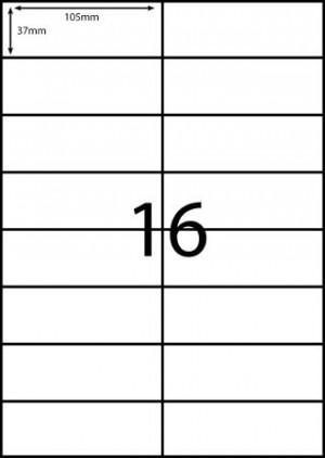 REDIFORM COPIER/LASER LABELS RA4/16C (105x37)  (price excludes gst)
