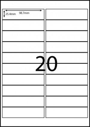 REDIFORM COPIER/LASER LABELS RA4/20C (98x25.4)  (price excludes gst)