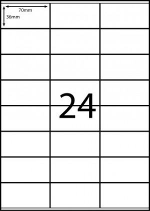 REDIFORM COPIER/LASER LABELS RA4/24C (70x36)  (price excludes gst)