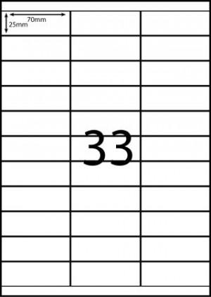 REDIFORM COPIER/LASER LABELS RA4/33C (70x25.4)  (price excludes gst)