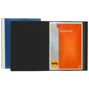 CLEARVIEW DISPLAY BOOK 36 POCKET BLUE (price excludes gst)