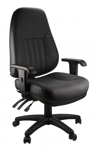 ENDEAVOUR 101L LEATHER EXECUTIVE CHAIR BLACK LEATHER